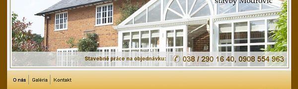 BNMS - stav - stavby Modrovič